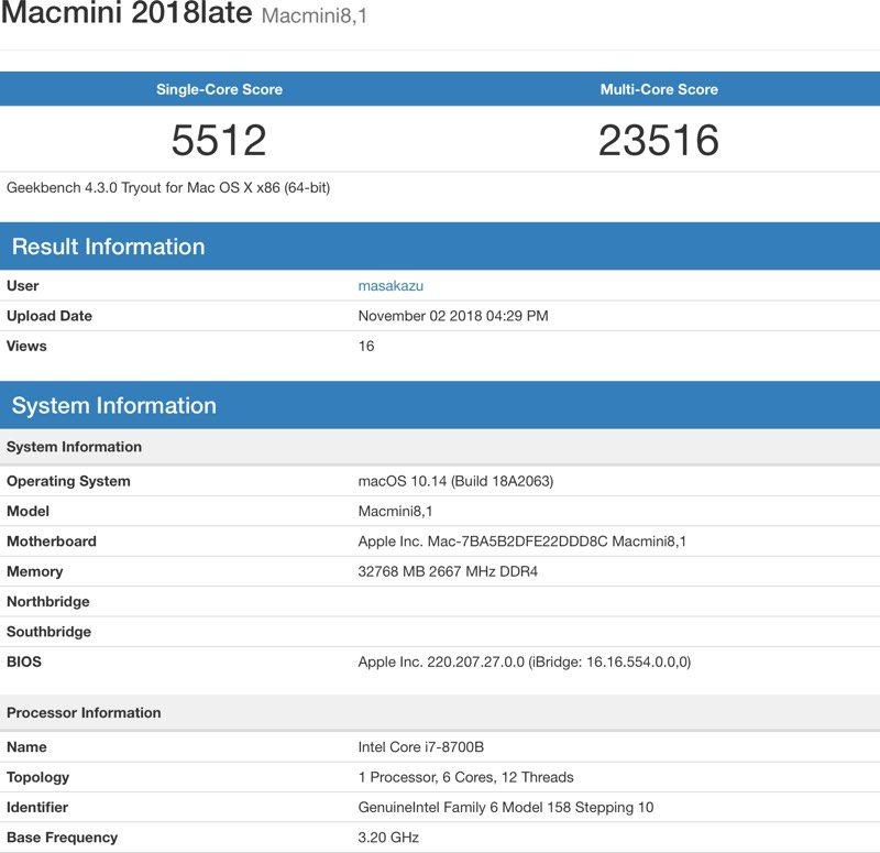 Benchmark Mac mini