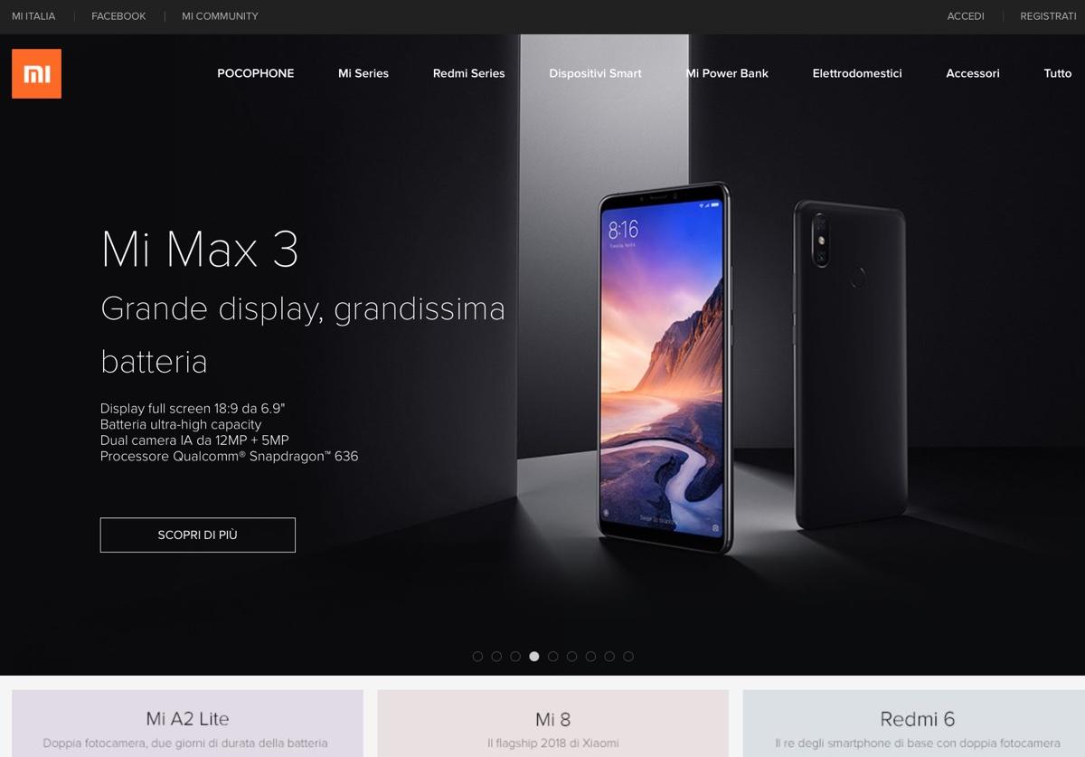Mi.com, il negozio Xiaomi in Italia apre martedì 20 novembre con sconti e promozioni