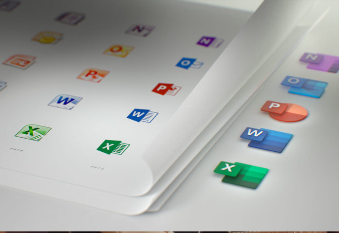 Nuove icone per Word, Excel, PowerPoint e altri software in Office 365