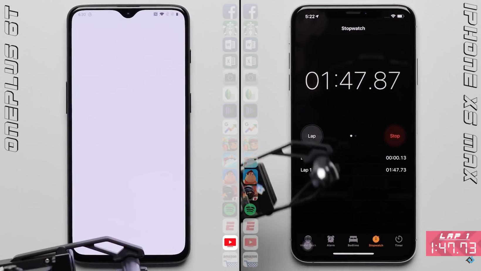 OnePlus 6T contro iPhone XS Max, ecco il più veloce