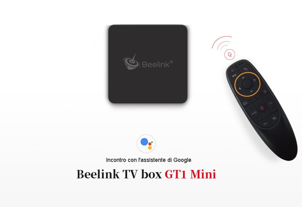 Beelink GT1 MINI, TV Box Android con telecomando vocale in offerta a 56 euro