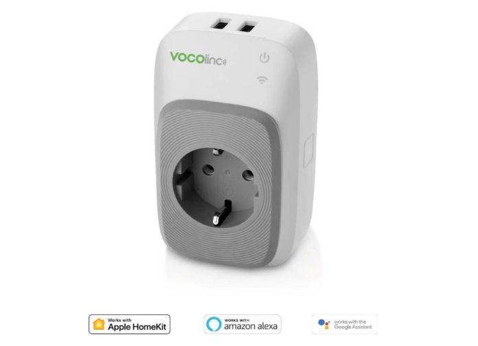 Presa smart Vocolinc PM5 con 2 porte USB: compatibile Homekit, Alexa e Assistente Google