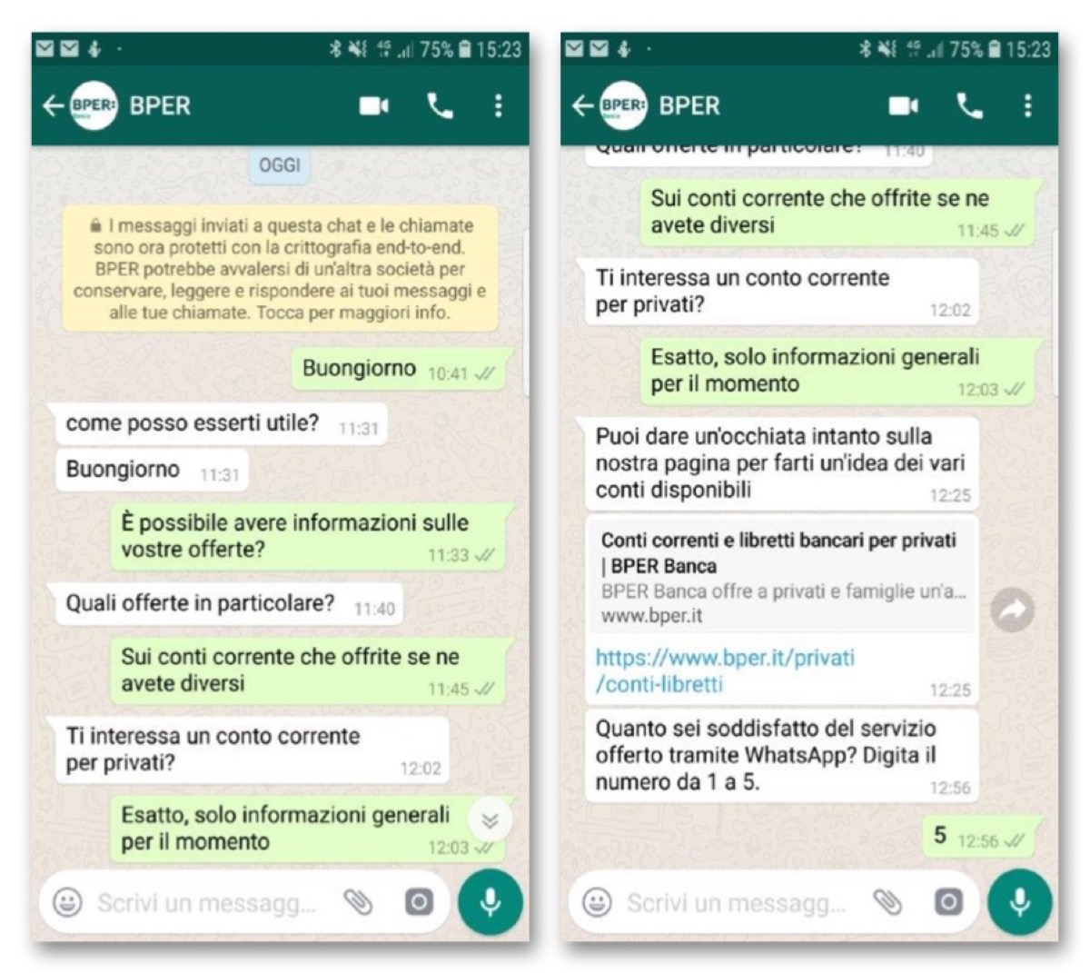BPER Banca ora chatta con i propri clienti via Whatsapp