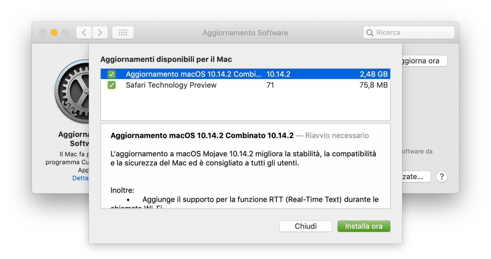 macOS 10.14.2, disponibile update per tutti di Mojave