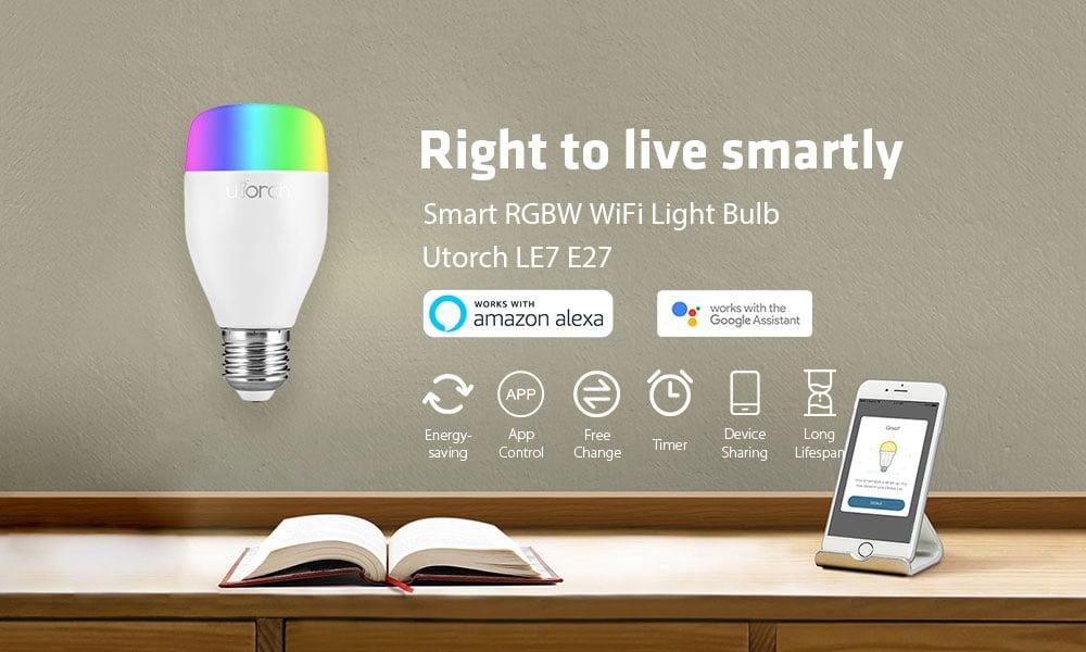 Utorch LE7, la lampada smart a colori in offerta lampo a 10 euro