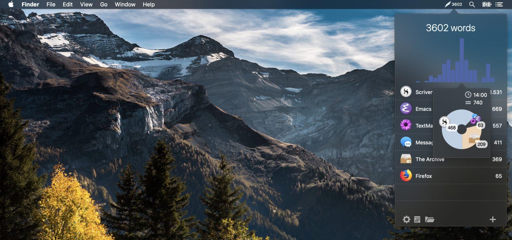 Word Counter conta al volo le parole scritte con le varie applicazioni per Mac