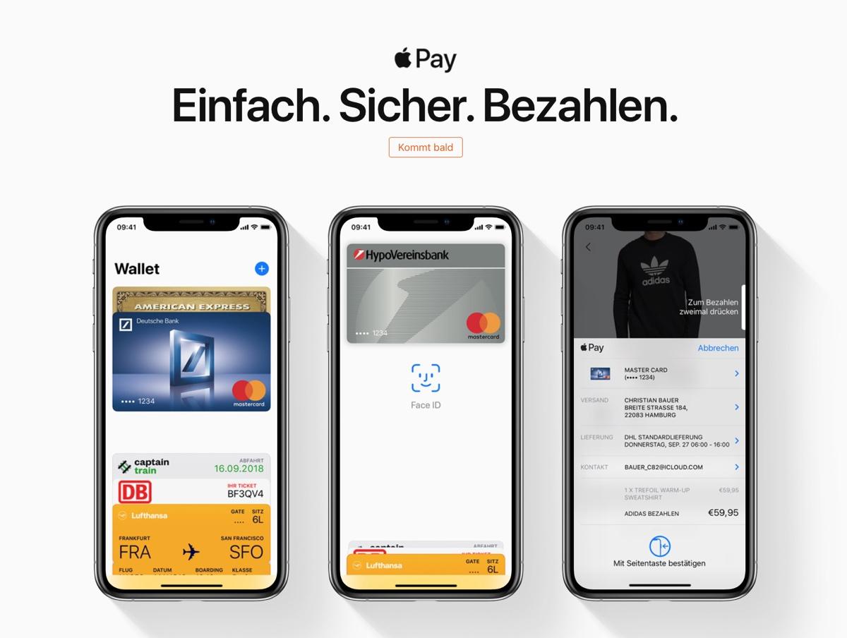Apple Pay in Germania atteso entro questa settimana