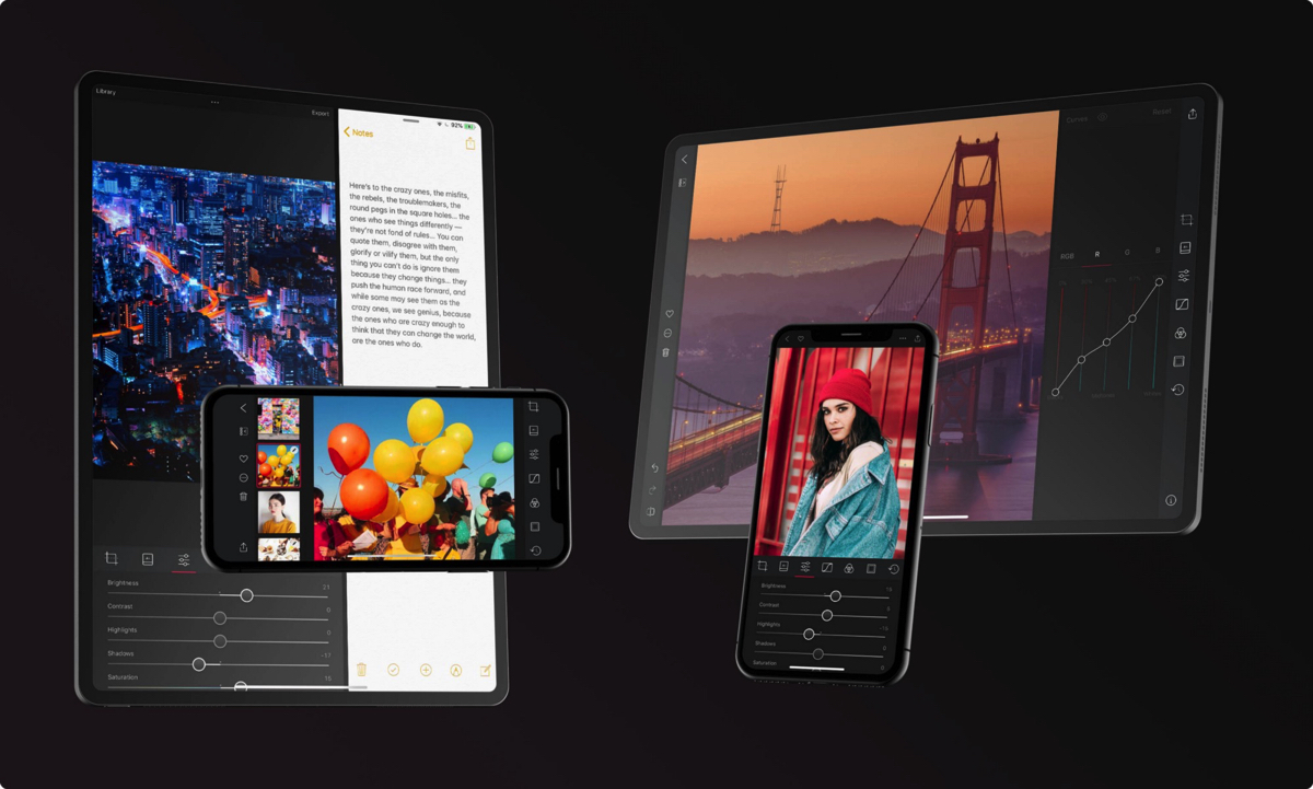 Disponibile Darkroom per iPad, potente app di foto editing