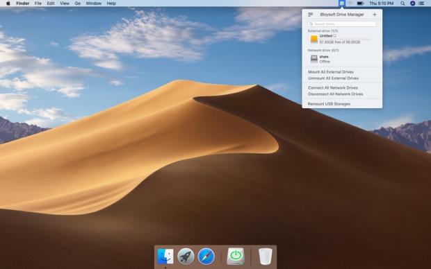 iBoysoft Drive Manager for Mac, scrive unità NTFS e gestisce unità di rete sul Mac
