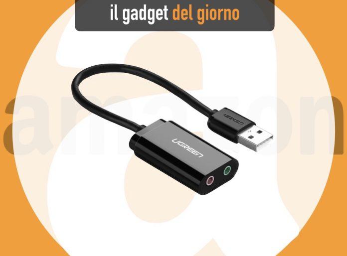 Da Ugreen l'adattatore che mette presa cuffie e microfono su qualsiasi USB