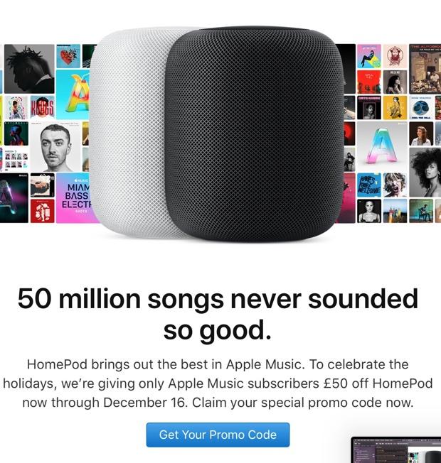 Apple propone HomePod in sconto agli abbonati di Apple Music in UK