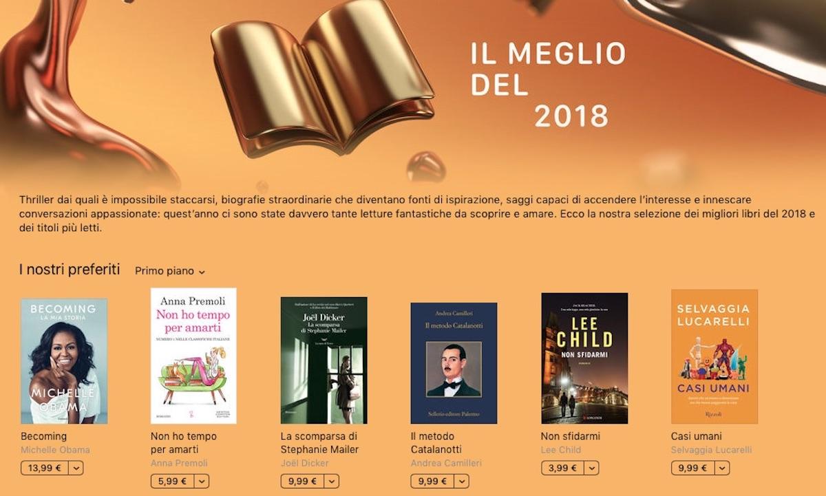 I migliori libri del 2018, la classifica di Apple in Italia