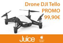 Nei negozi Juice in sconto DJI Tello, il drone perfetto per cominciare