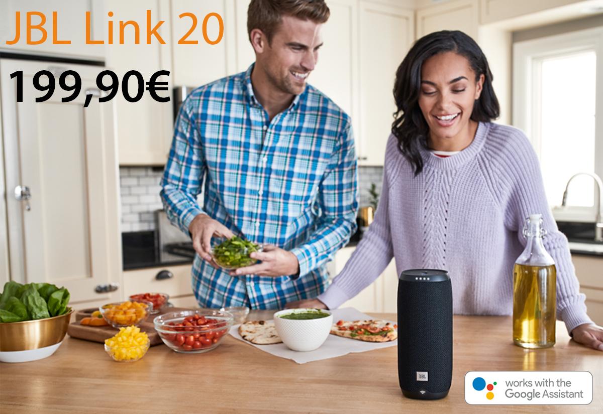 Da Juice disponibili JBL Link per audio di qualità e Assistente Google fuori e dentro casa