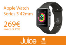 Da Juice sconti speciali sui prodotti Apple: Watch da 269 euro, in offerta MacBook Pro e iPhone X