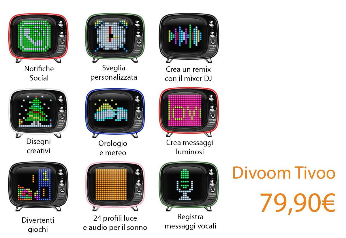 Da Juice il gadget di Natale Divoom Tivoo, lo speaker smart chic e retrò con tante funzioni