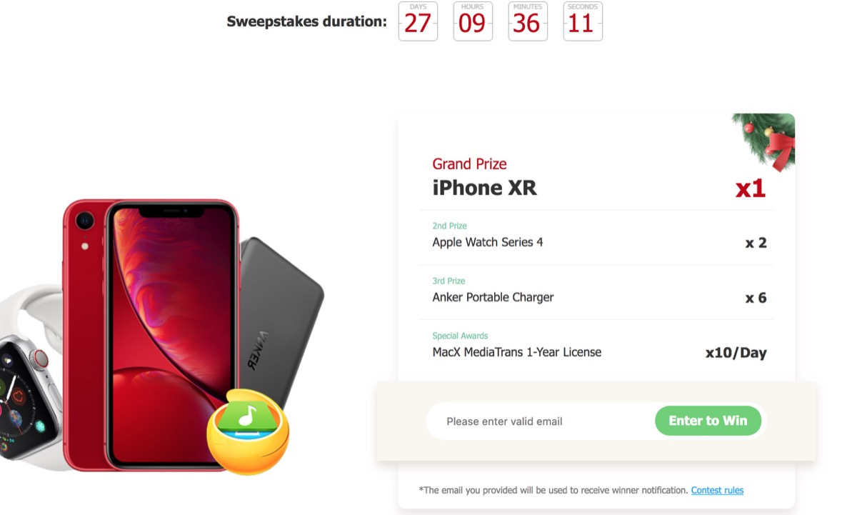 Scarica Gratis MacX MediaTrans e vinci un iPhone XR con l'offerta Digiarty