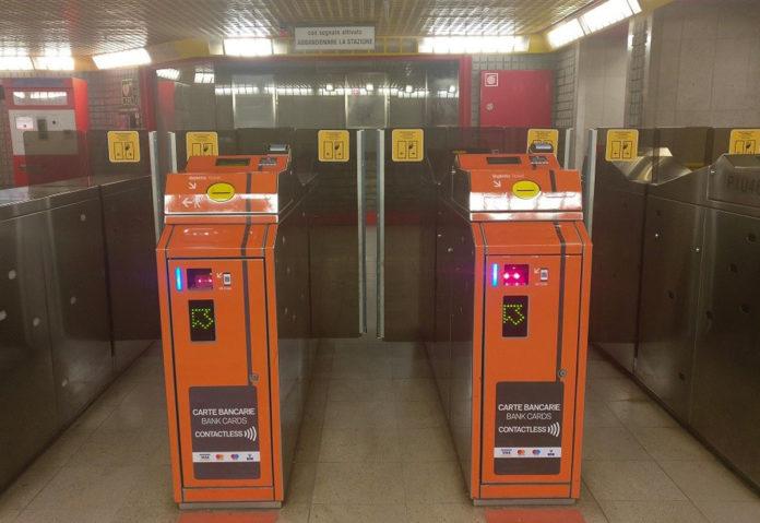 Pagamenti contactless in metro