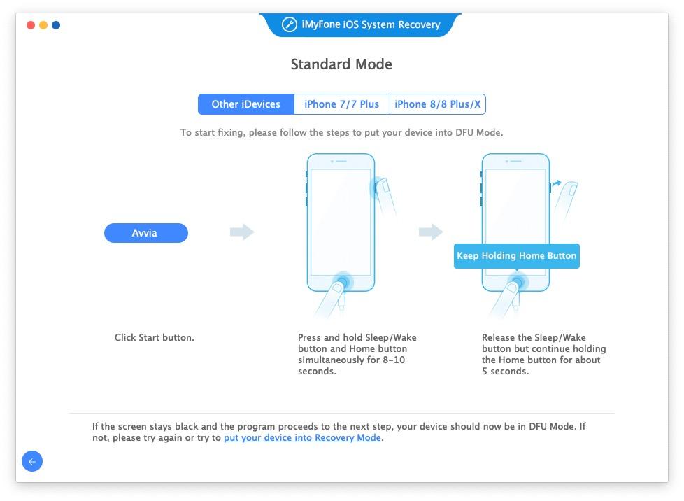 iMyFone iOS System Recovery – ripare schermo nero iPhone e altri problemi iOS su Mac