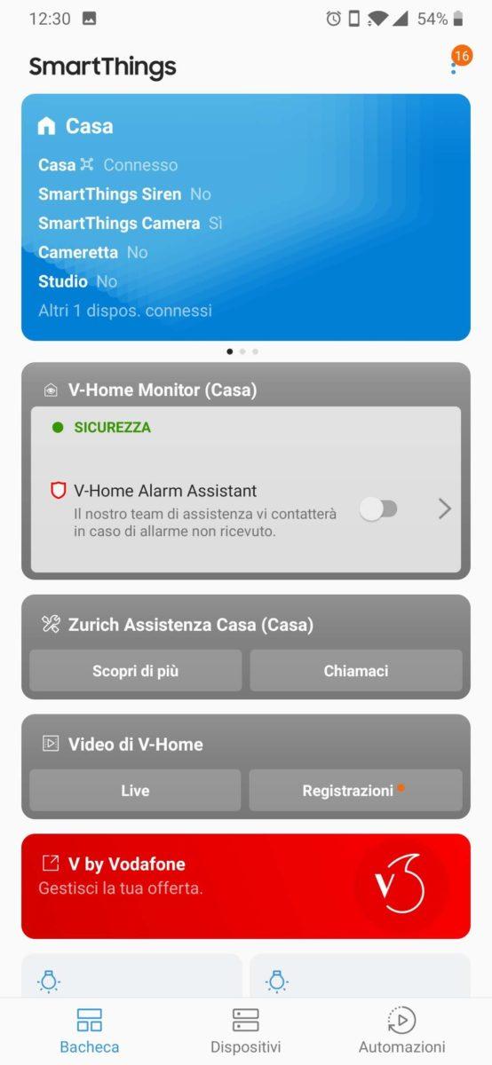Come funziona V-Home, la domotica SmartThings Samsung in Italia con