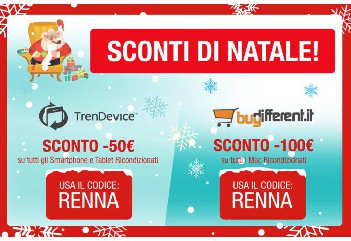 Sconti di Natale su TrenDevice e BuyDifferent. Regalati o regala uno Smartphone, Tablet o Mac