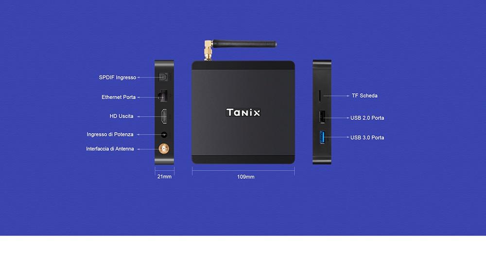 In offerta Tanix TX5 Plus, la TV box super potente per avere il cinema in salotto