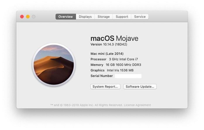 macOS 10.14.3, disponibile update per tutti di Mojave