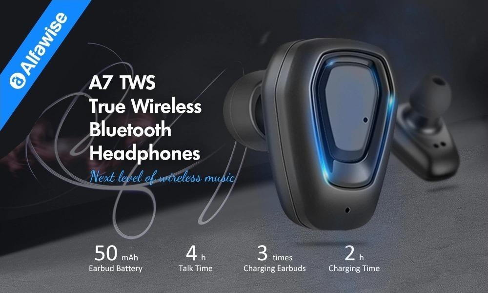 Alfawise A7, cuffie auricolari true wireless in offerta a soli 15 euro