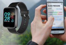 Smartwatch Alfawise H19, misura frequenza cardiaca e pressione del sangue