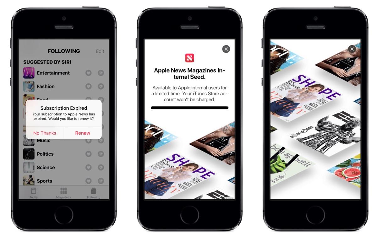 Apple News Magazines, tracce di un nuovo abbonamento scoperte in iOS 12.2