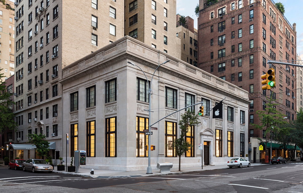 L'Apple Store Upper East Side di New York vince il premio AIA per l'architettura d'interni