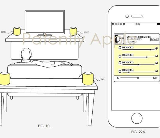In un brevetto Apple mostra configurazione HomePod con quattro speaker e l'uso come interfono domestico
