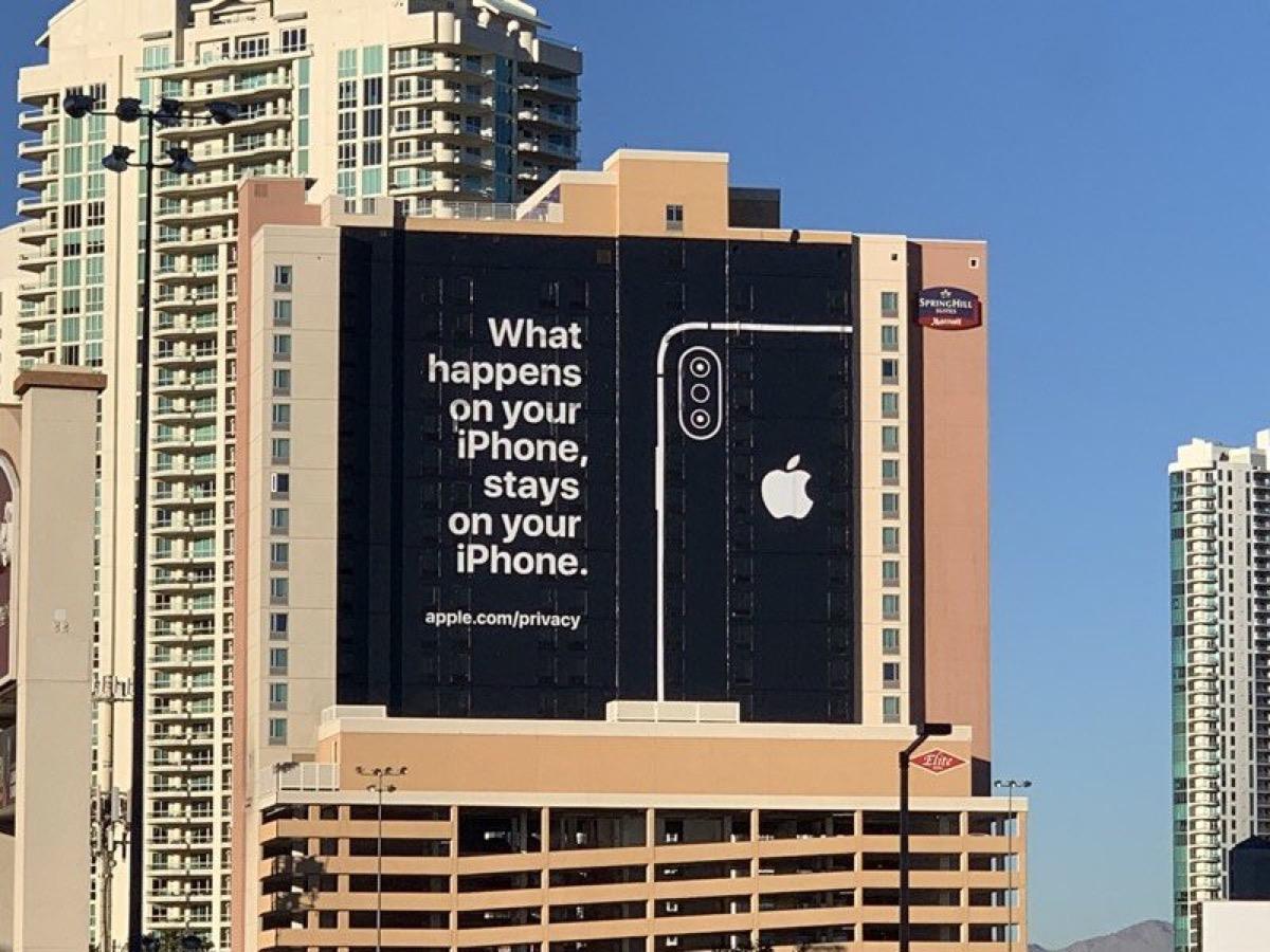 Apple boicotta il CES: a Las Vegas col cartellone pubblicitario Pro privacy