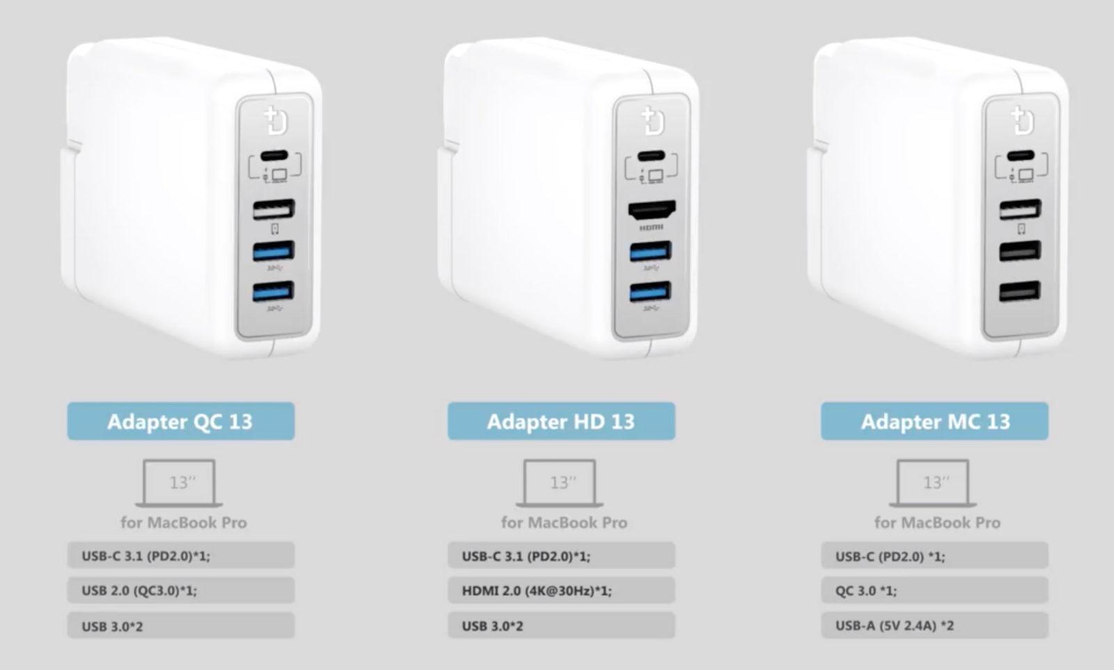 DockCase, un progetto per trasformare l'alimentatore di MacBook, Air e Pro in dock USB-C