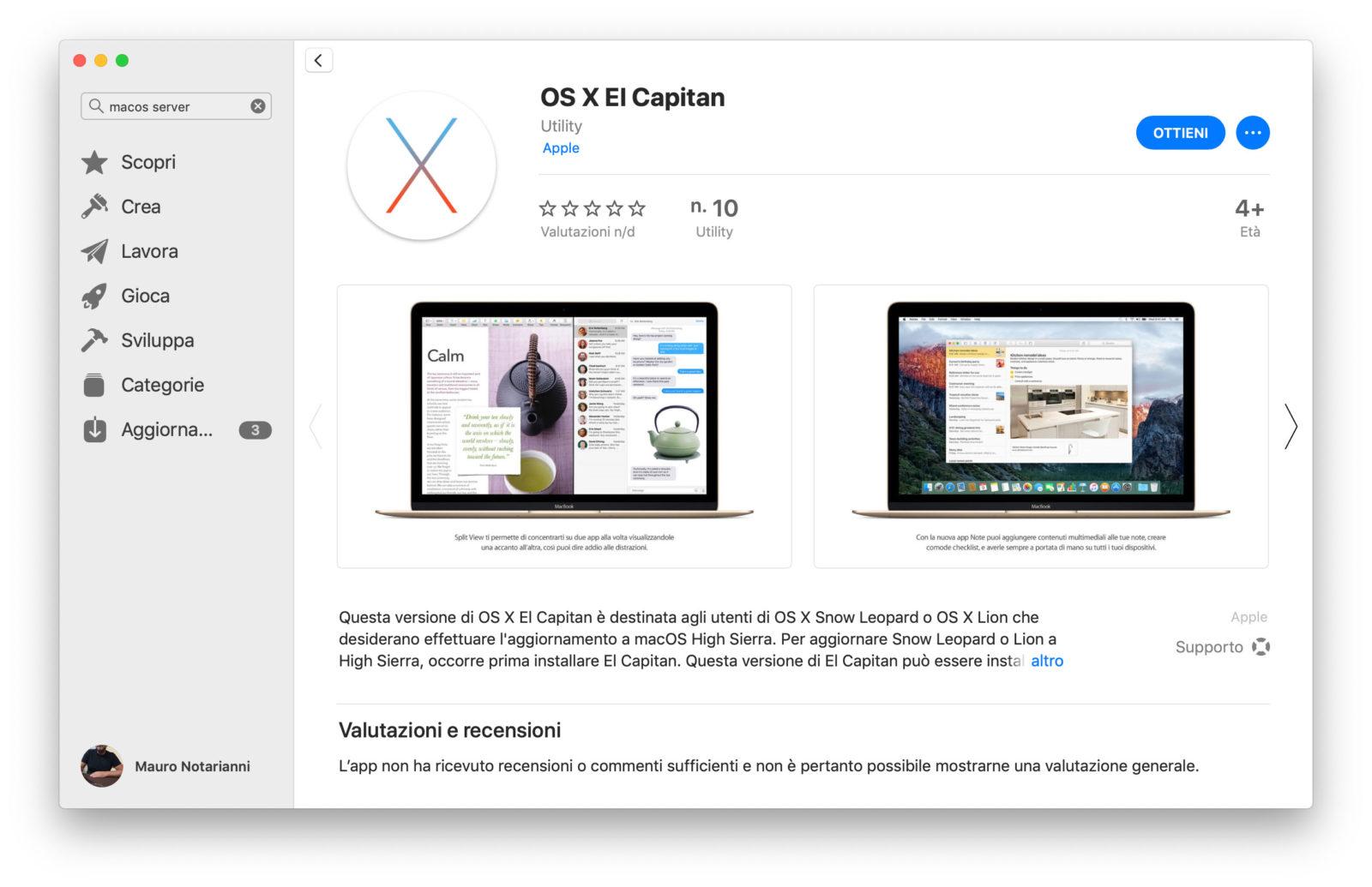 Come recuperare le vecchie versioni di OS X