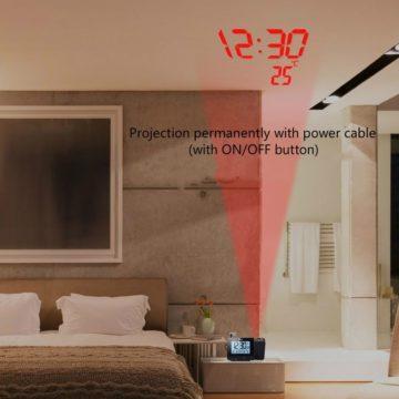 FanJu FJ3531, la sveglia con proiettore, rilevazione di temperatura e umidità a 14 euro