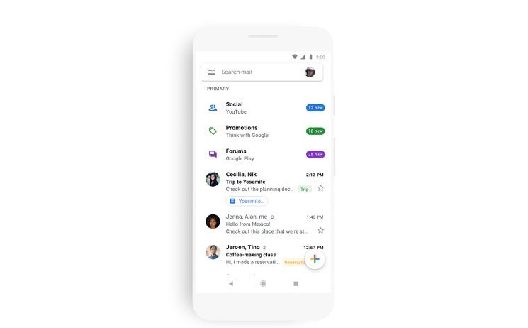 Un Gmail iOS tutto nuovo in fase di distribuzione su iPhone e iPad