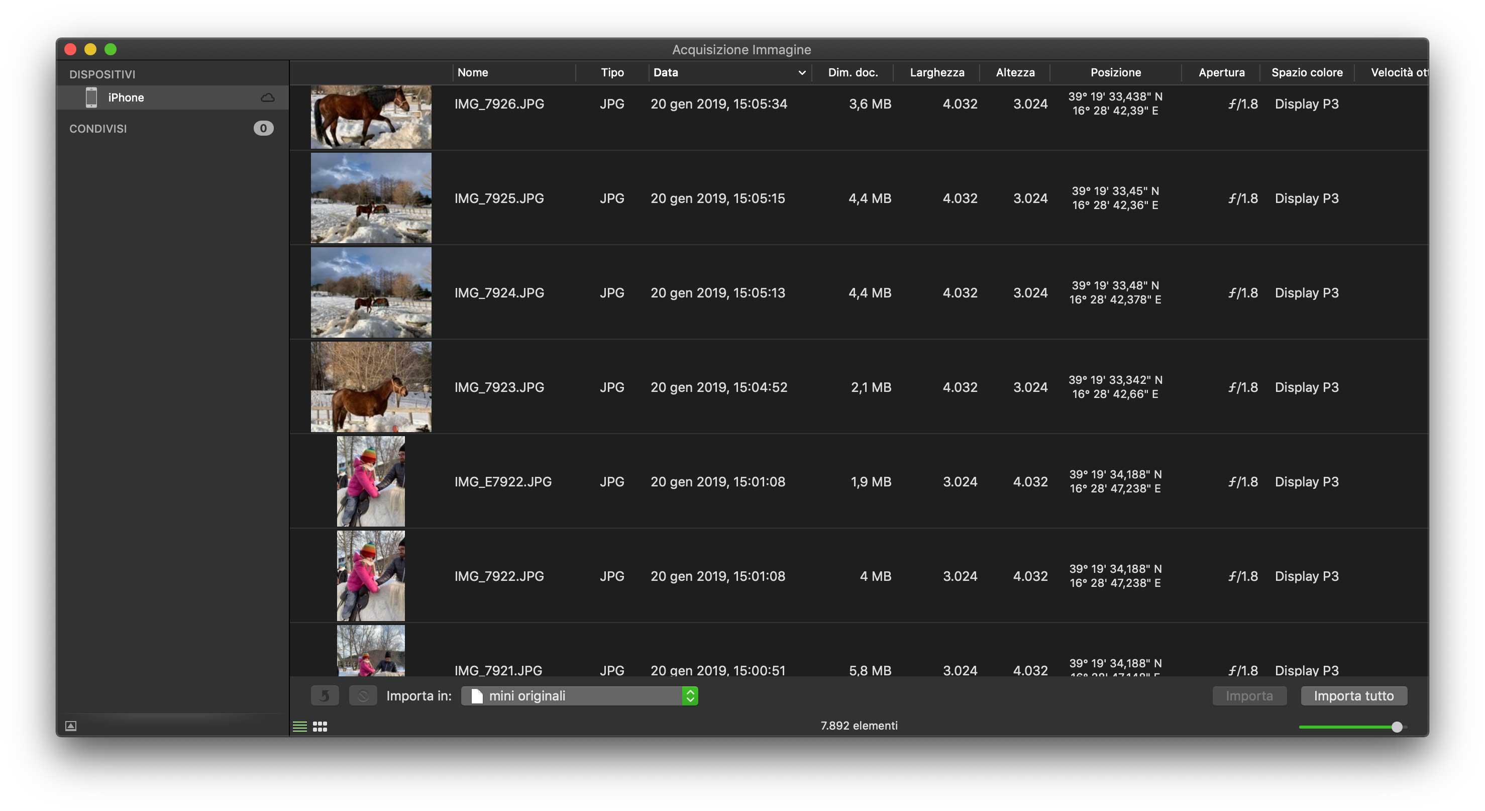 Con l'utility Acquisizione Immagine di serie in macOS è facilissimo importare al volo foto e video da iPhone e iPad