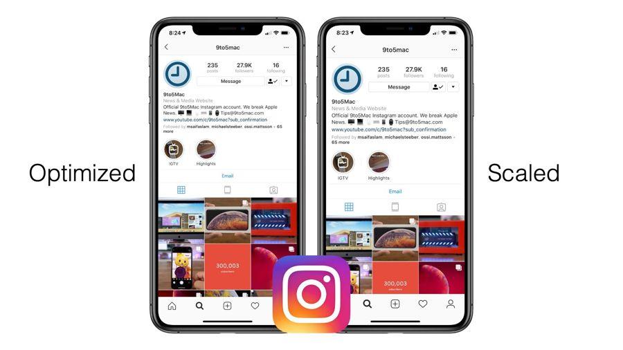 Instagram ora è di nuovo ottimizzato per iPhone XS, XS Max e XR