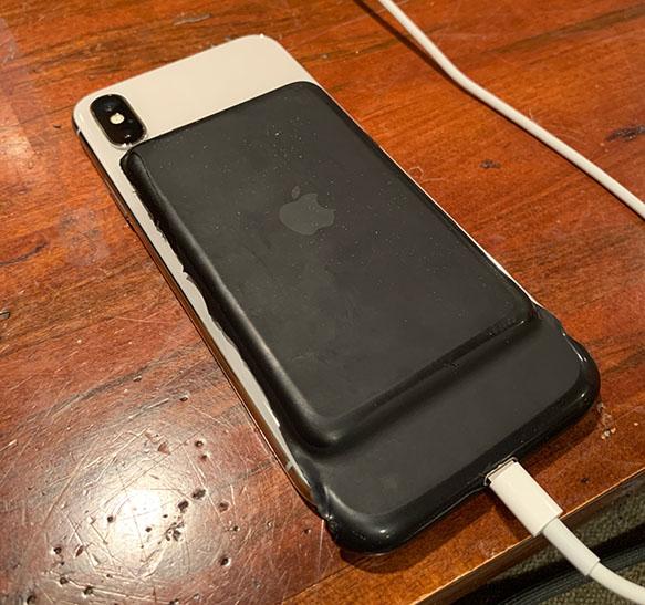 Smart Battery Case per iPhone XS, l'icona è presente su iOS 12.1.2
