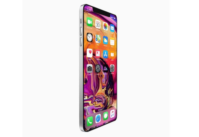 Esempio di ipotetico design circolato per l'iPhone 2019. Questo si ispira allo stile dei nuovi iPad.