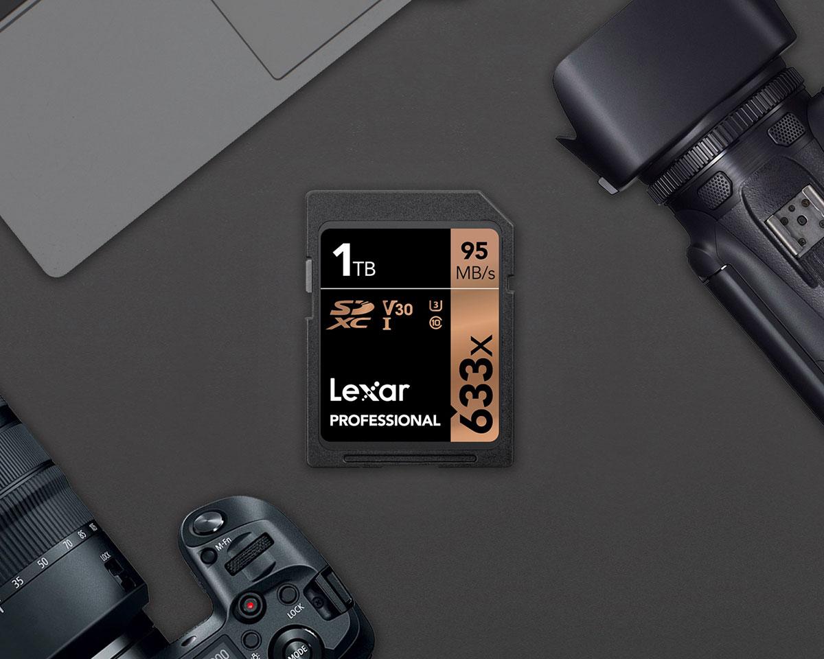 Lexar, una scheda di memoria SDXC da 1TB e velocità 633X