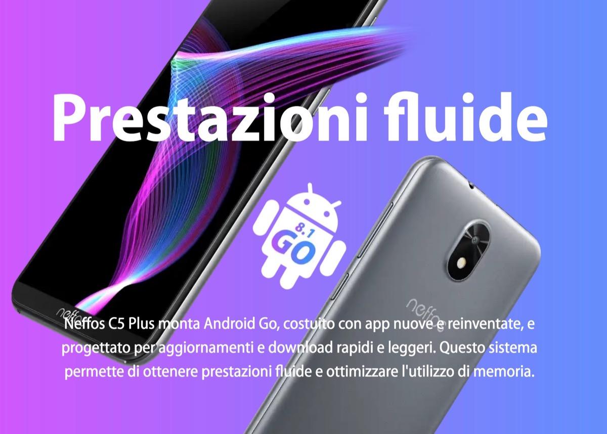 Neffos C5 Plus, il primo smartphone di TP-Link con Android Go