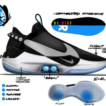 Nike Adpapt BB le scarpe che si allacciano da sole e si controllano da iPhone
