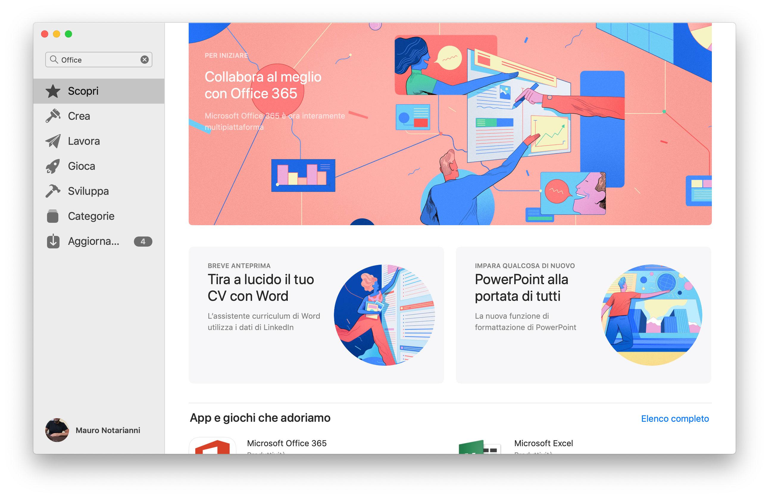 Office 365 ora disponibile sul Mac App Store