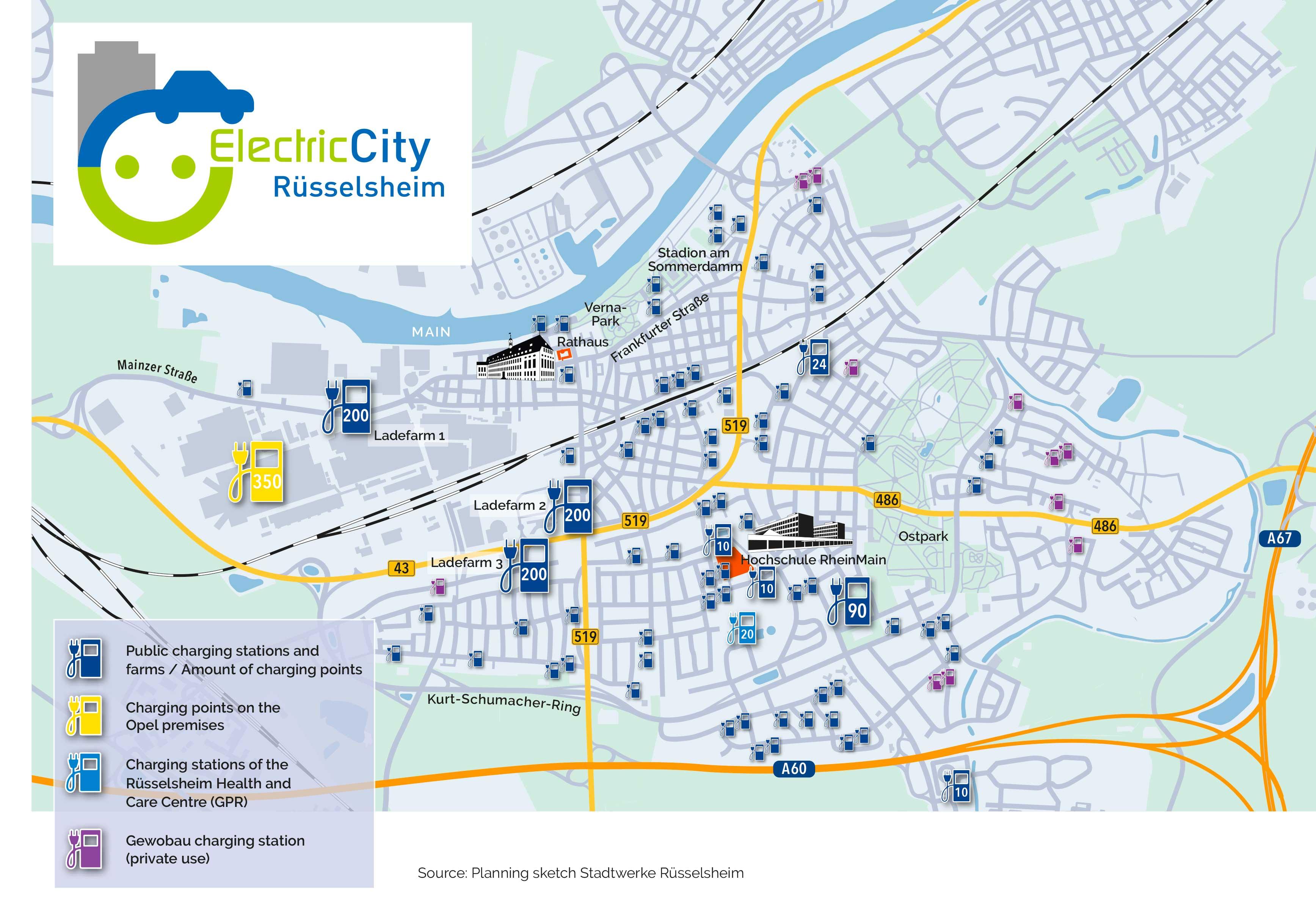 A Rüsselsheim nasceranno 1.300 punti di ricarica entro il 2020