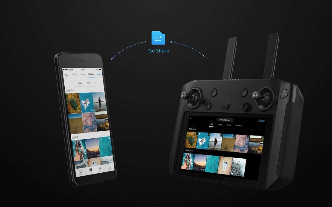 Al CES 2019 DJI Smart Controller, il radiocomando super tecnologico per Mavic 2