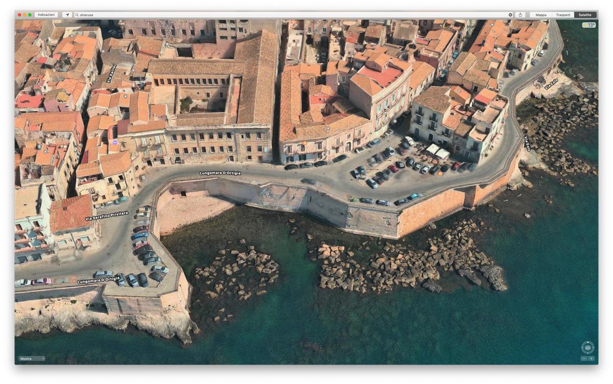 cupertino investe miliardi per apple mappe - Padova, Reggio Calabria e Siracusa con vista Flyover 3D