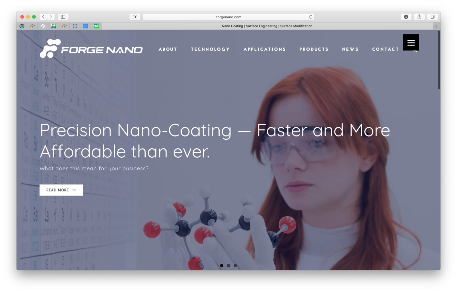 Sito web di Forge Nano