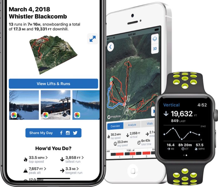 slopes app iphone apple watch